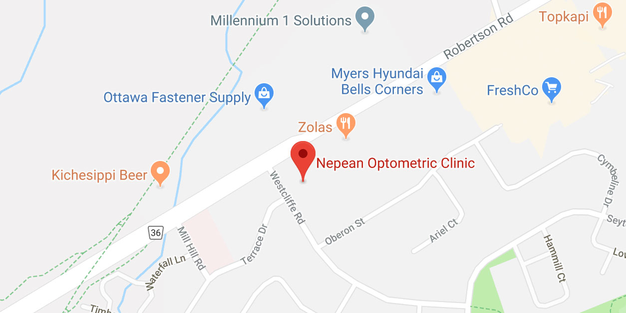 Nepean Optometric - Map